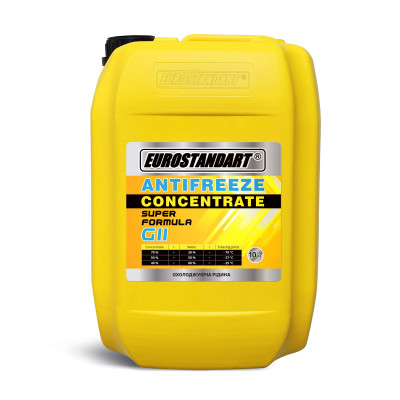 ANTIFREEZE SUPER FORMULA G11 Yellow CONCENTRATE - 10кг.